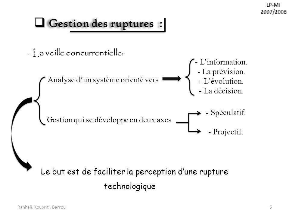 Le but est de faciliter la perception d'une rupture technologique