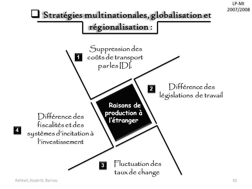 Stratégies multinationales, globalisation et régionalisation :