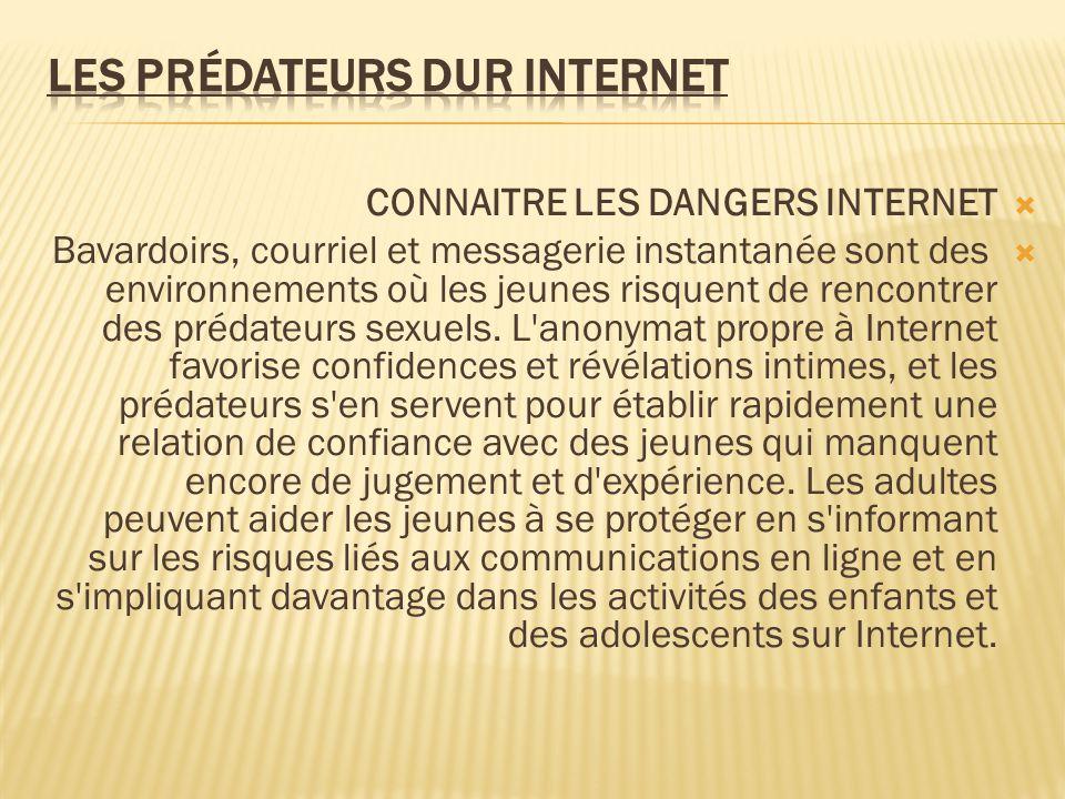 Les prédateurs dur internet