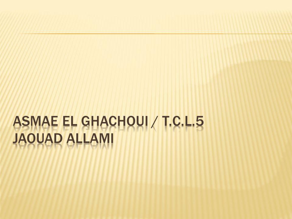 Asmae EL GHACHOUI / T.C.L.5 JAOUAD ALLAMI