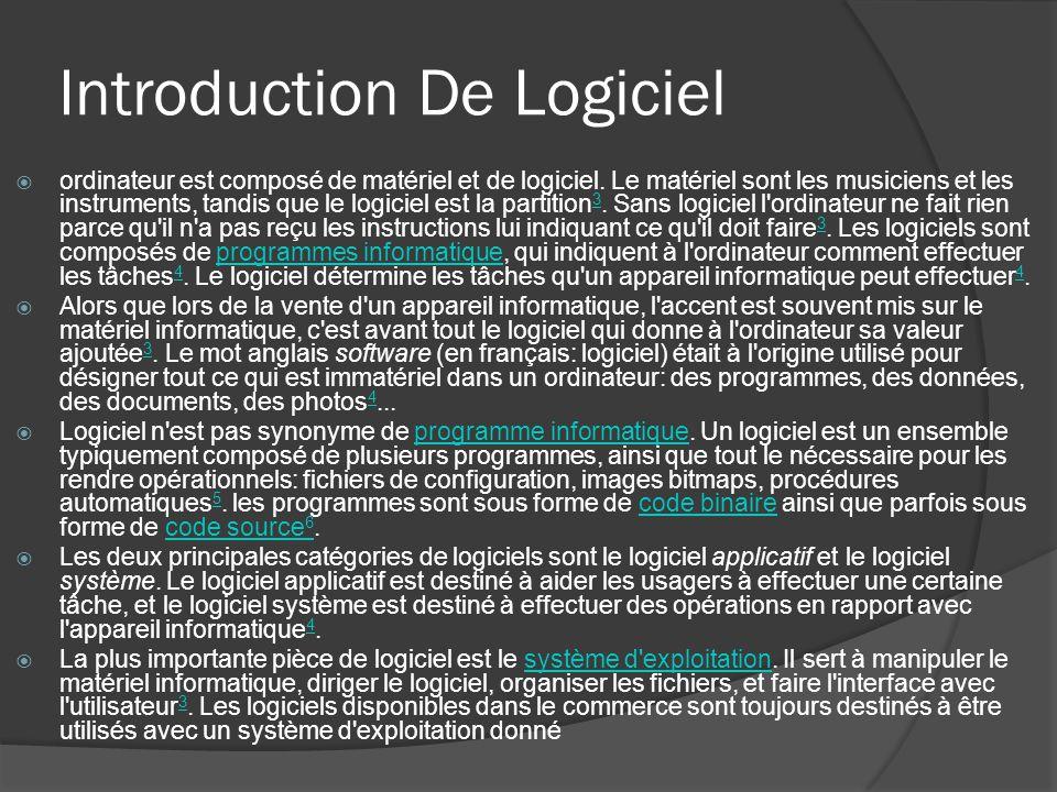 Introduction De Logiciel