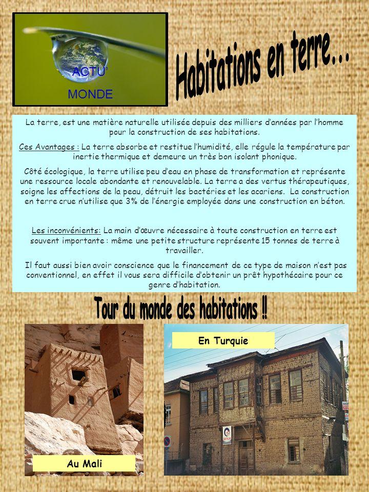 Tour du monde des habitations !!