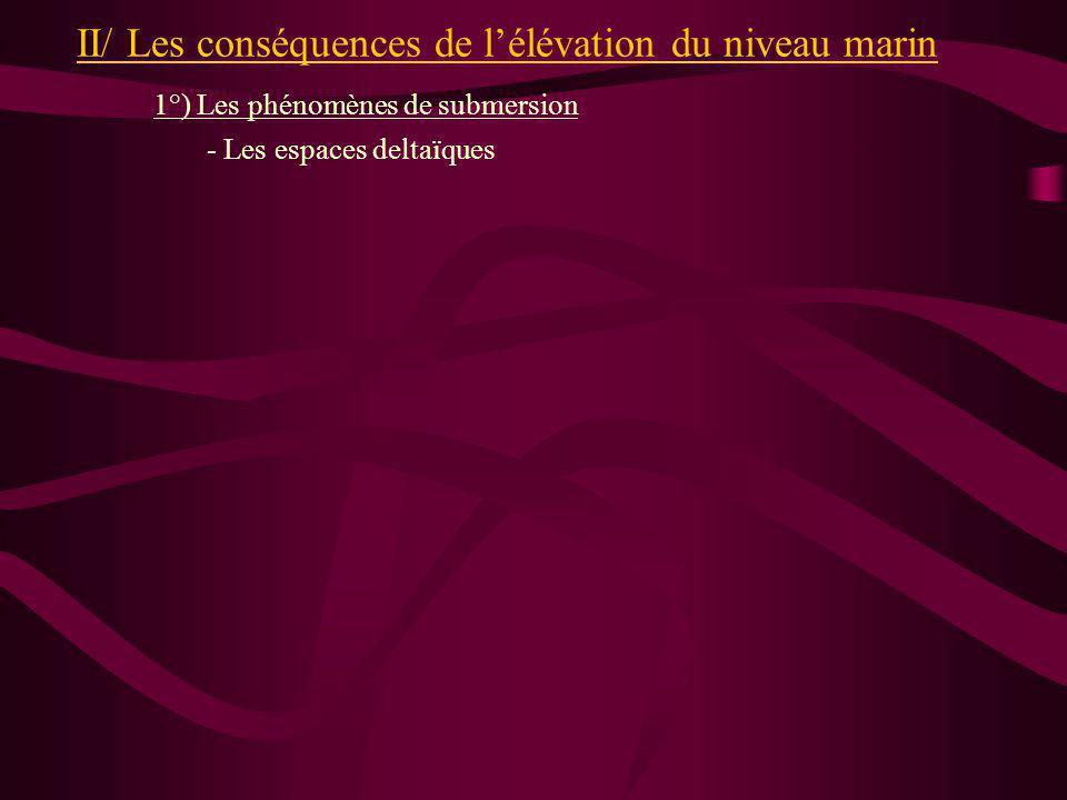 II/ Les conséquences de l'élévation du niveau marin