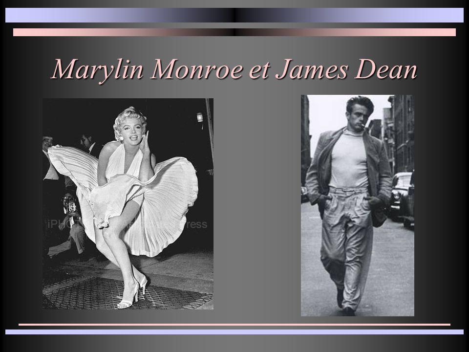 Marylin Monroe et James Dean