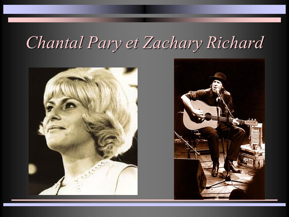 Chantal Pary et Zachary Richard