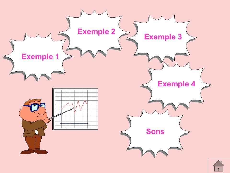 Exemple 2 Exemple 3 Exemple 1 Exemple 4 Sommaire Sons