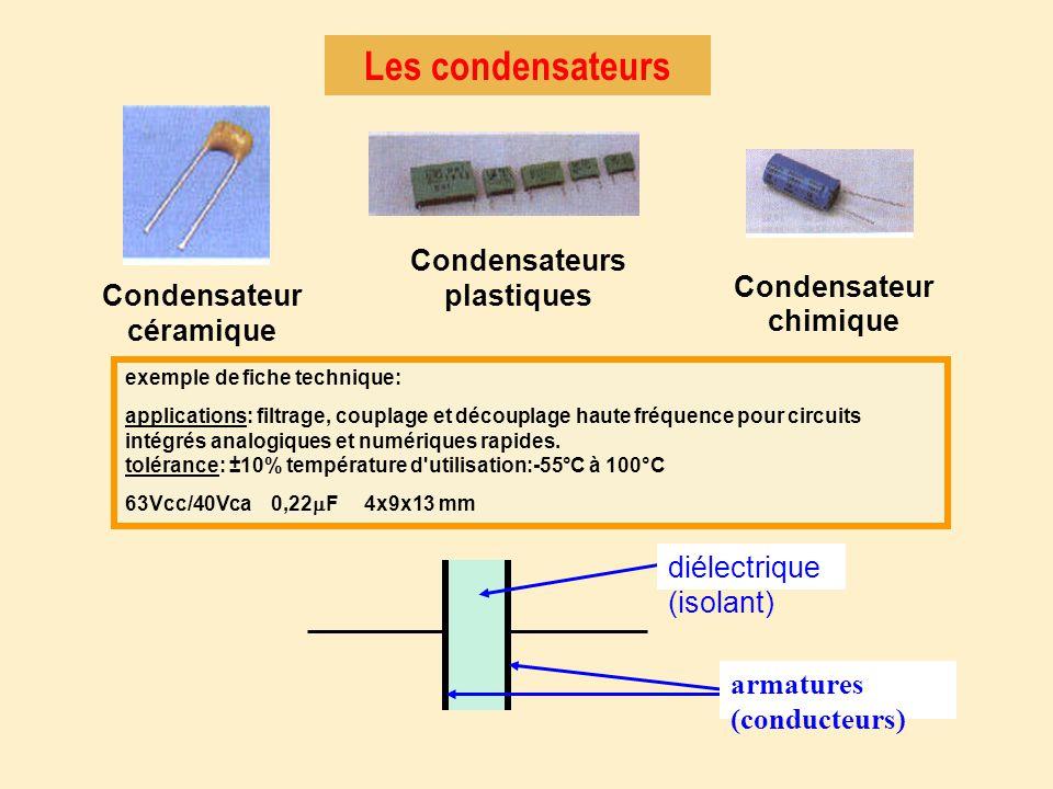Condensateurs plastiques Condensateur chimique Condensateur céramique