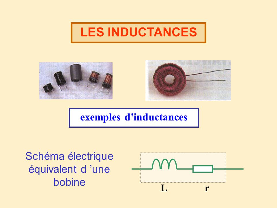 exemples d inductances