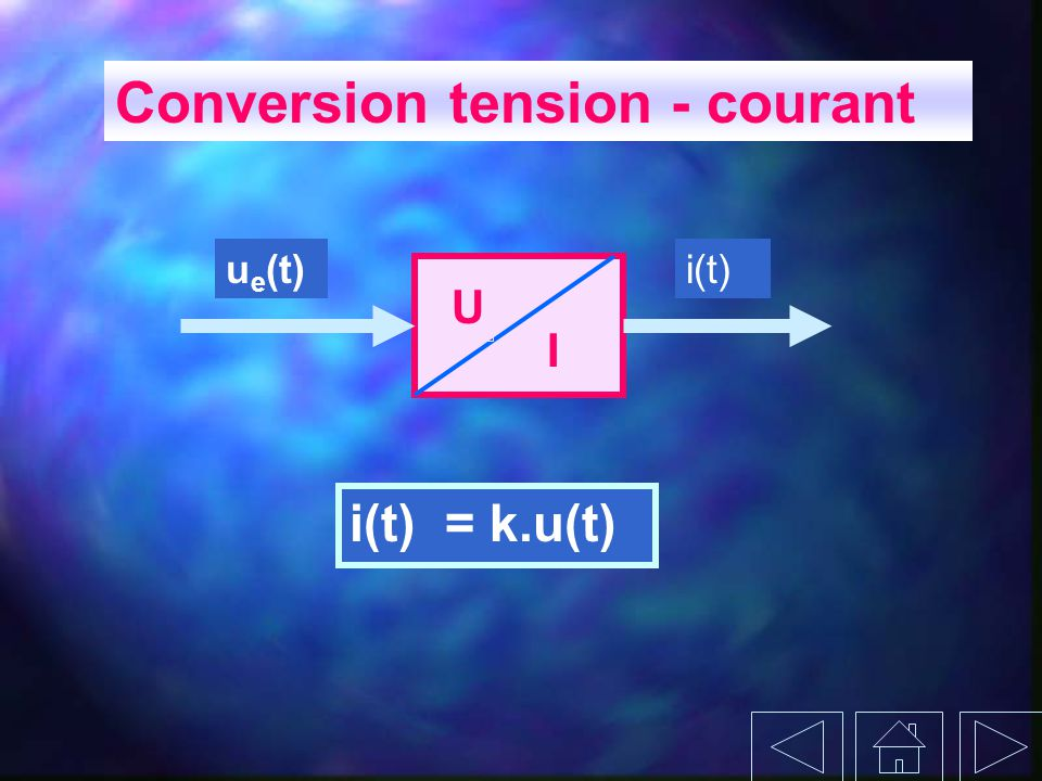 Conversion tension - courant