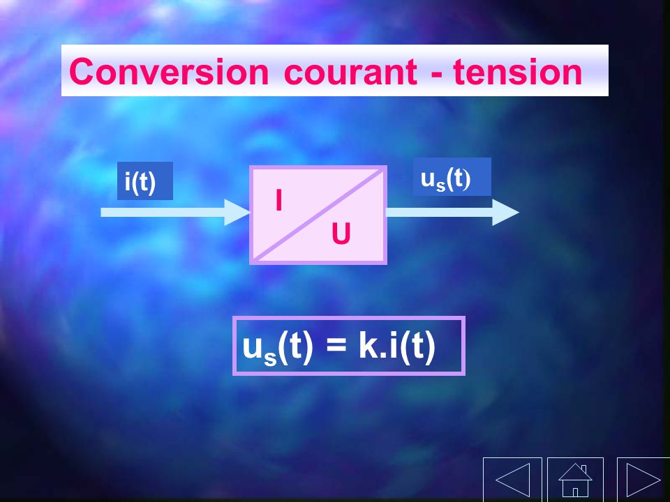 Conversion courant - tension