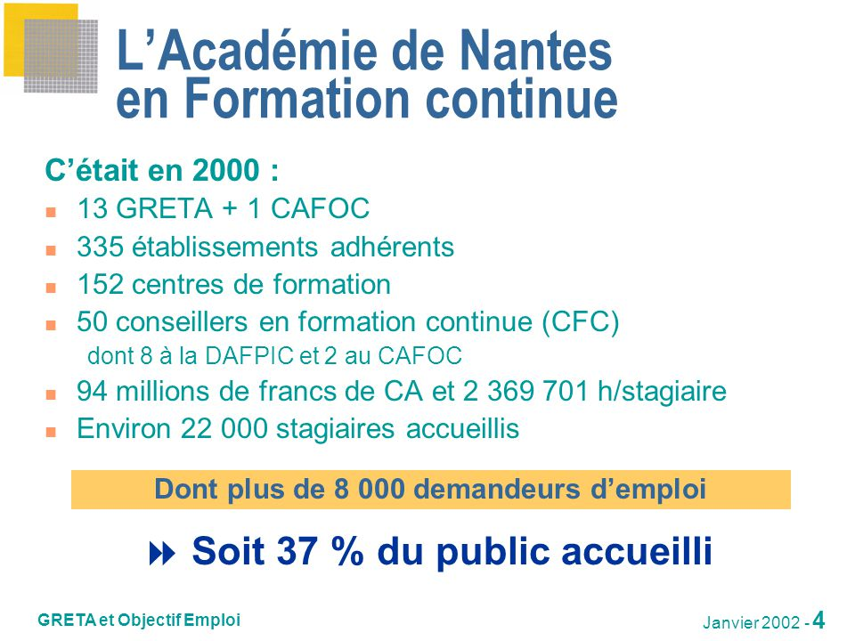 L'Académie de Nantes en Formation continue