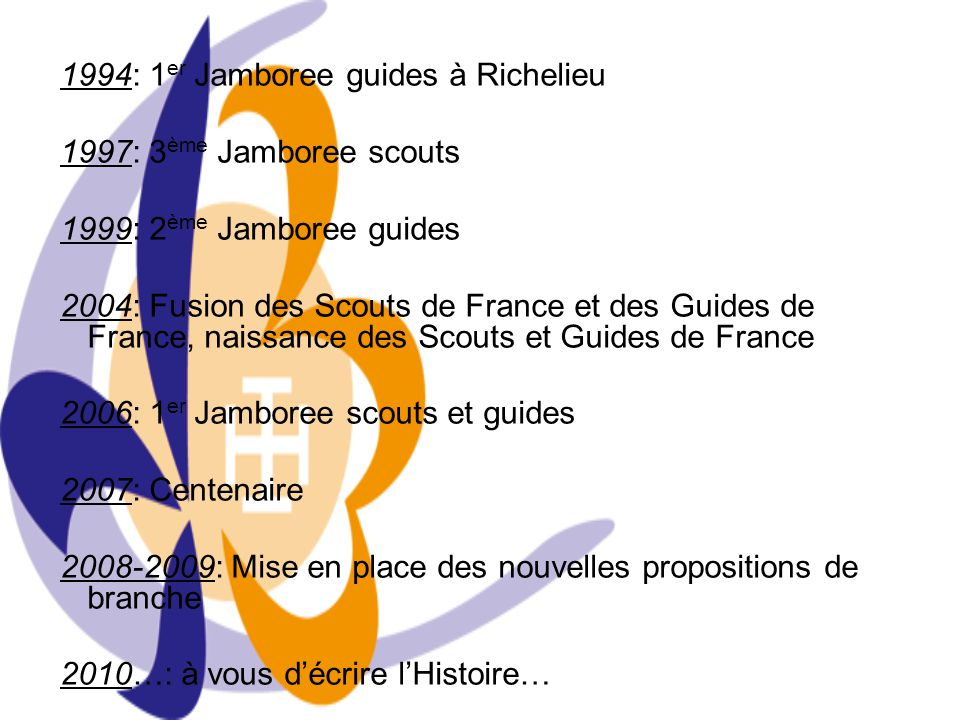 1994: 1er Jamboree guides à Richelieu