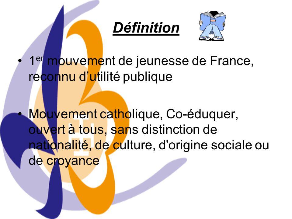 Définition 1er mouvement de jeunesse de France, reconnu d'utilité publique.