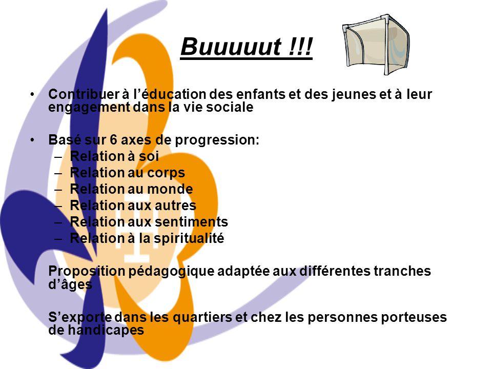 Buuuuut !!! Contribuer à l'éducation des enfants et des jeunes et à leur engagement dans la vie sociale.