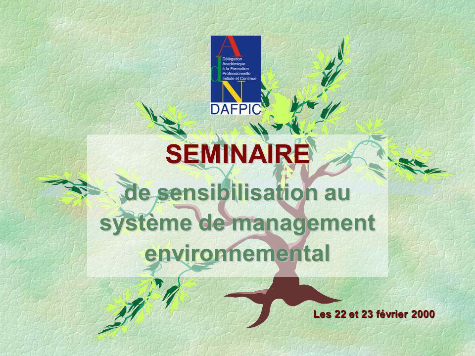 de sensibilisation au système de management environnemental