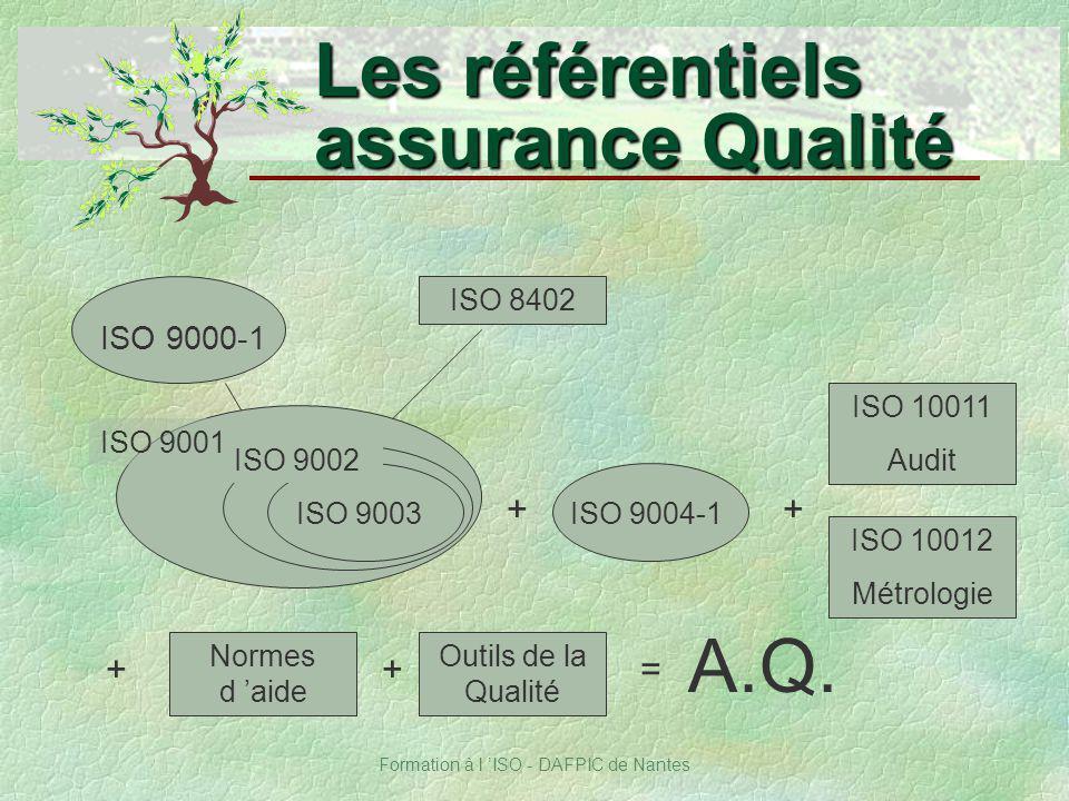 Les référentiels assurance Qualité