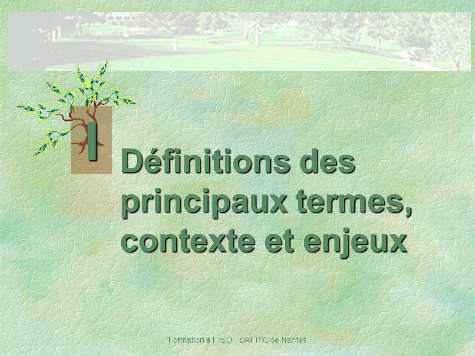 Définitions des principaux termes, contexte et enjeux