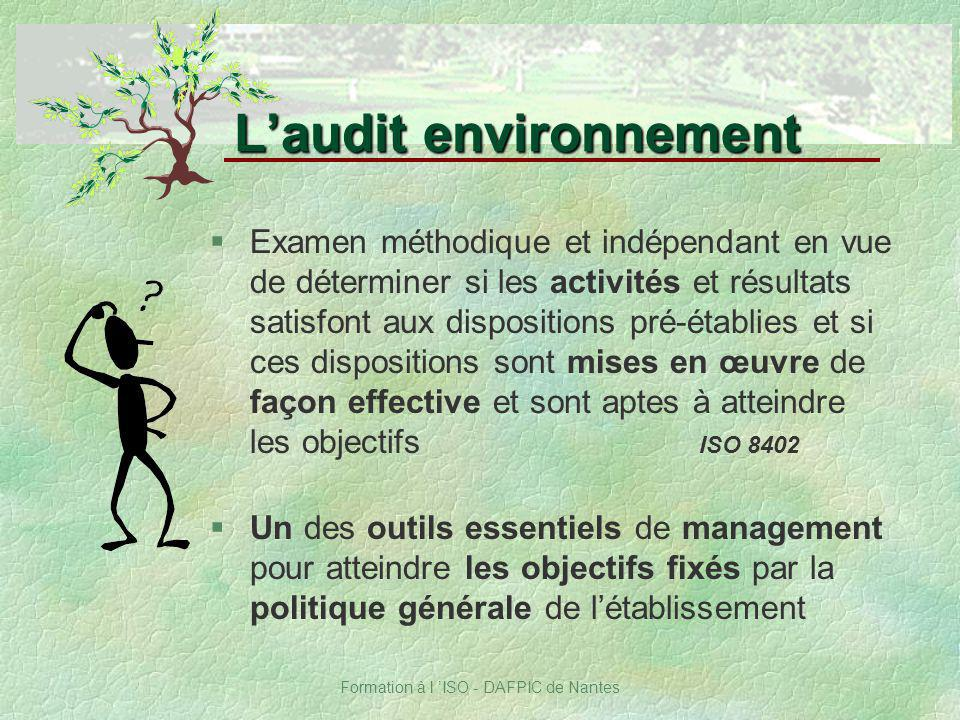L'audit environnement