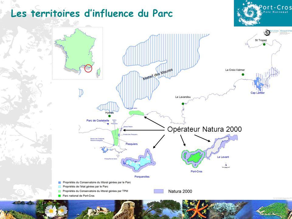 Les territoires d'influence du Parc