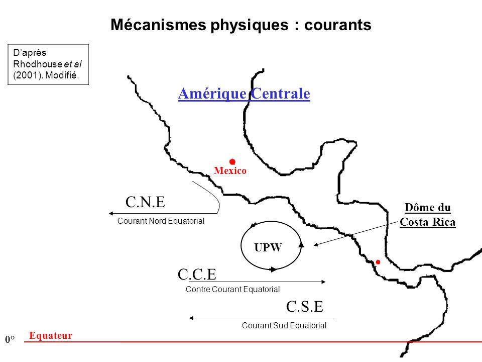 Mécanismes physiques : courants