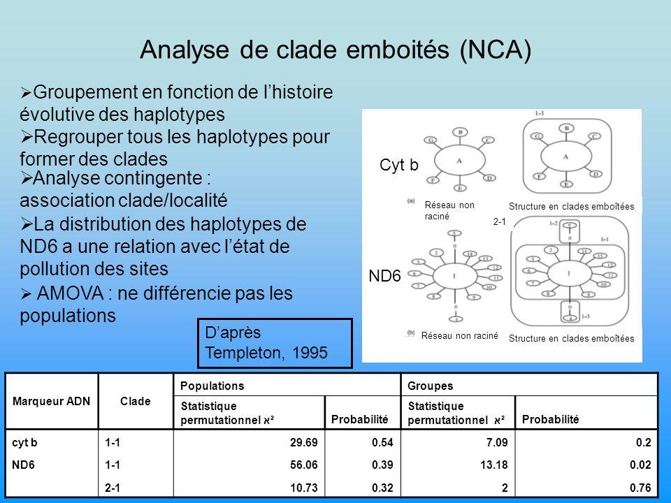 Analyse de clade emboités (NCA)
