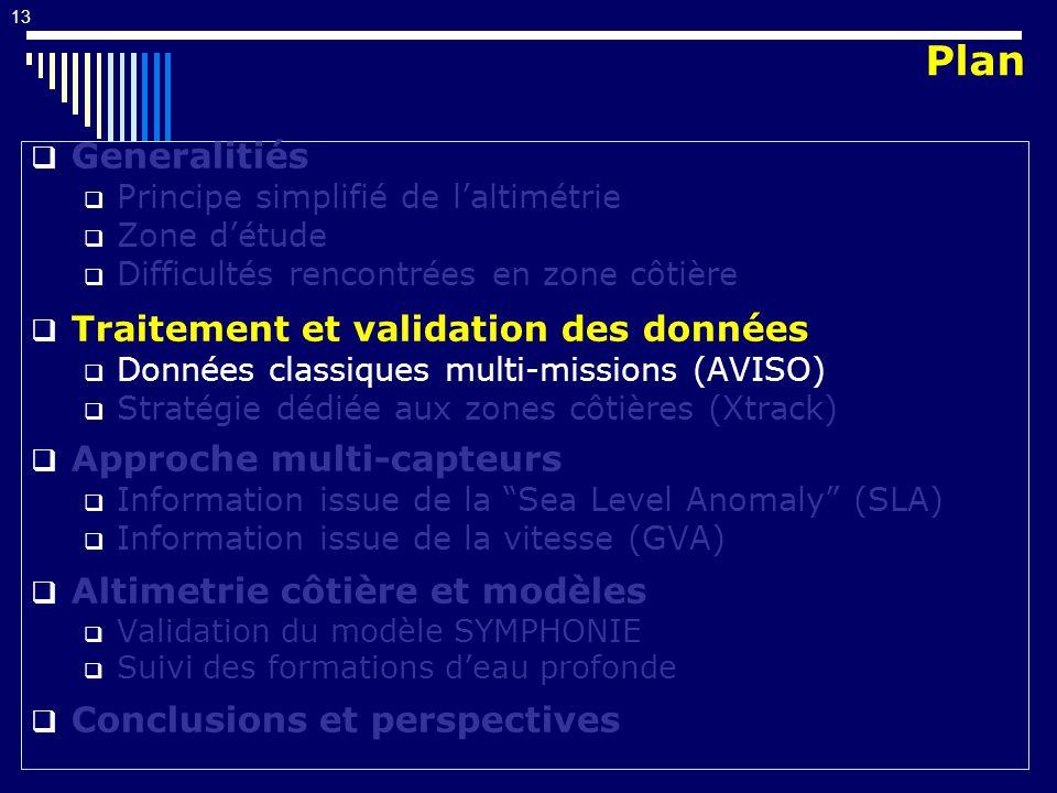 Plan Generalitiés Traitement et validation des données