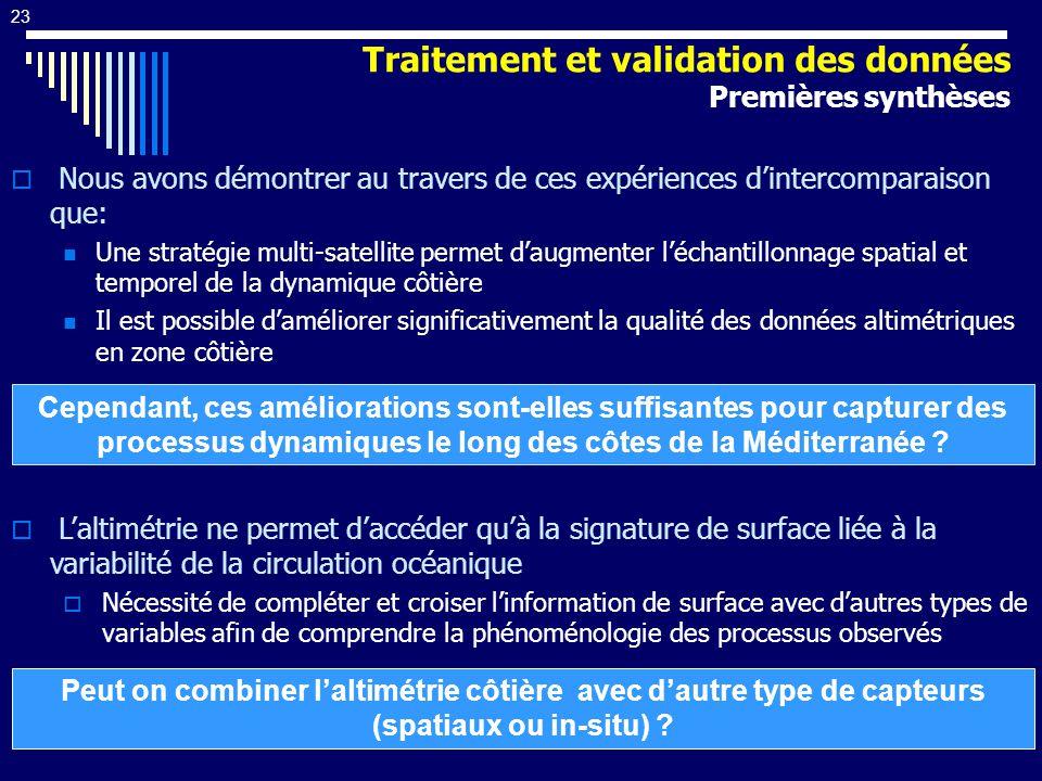 Traitement et validation des données