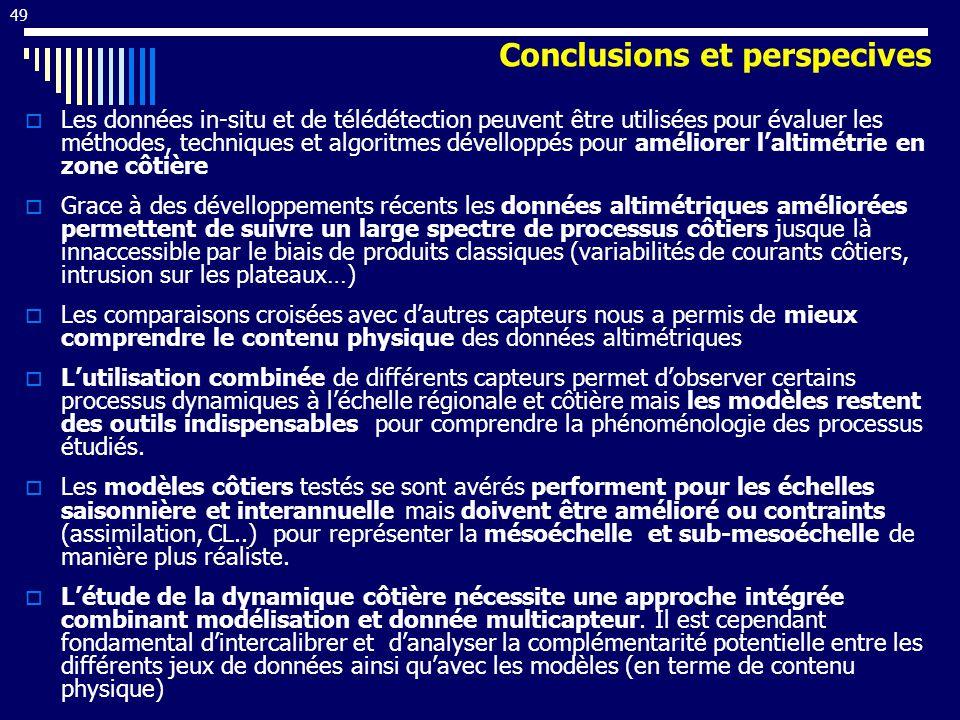 Conclusions et perspecives