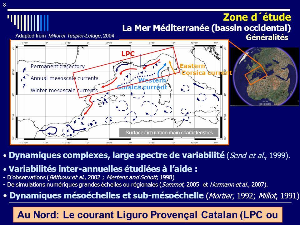 Au Nord: Le courant Liguro Provençal Catalan (LPC ou CN )