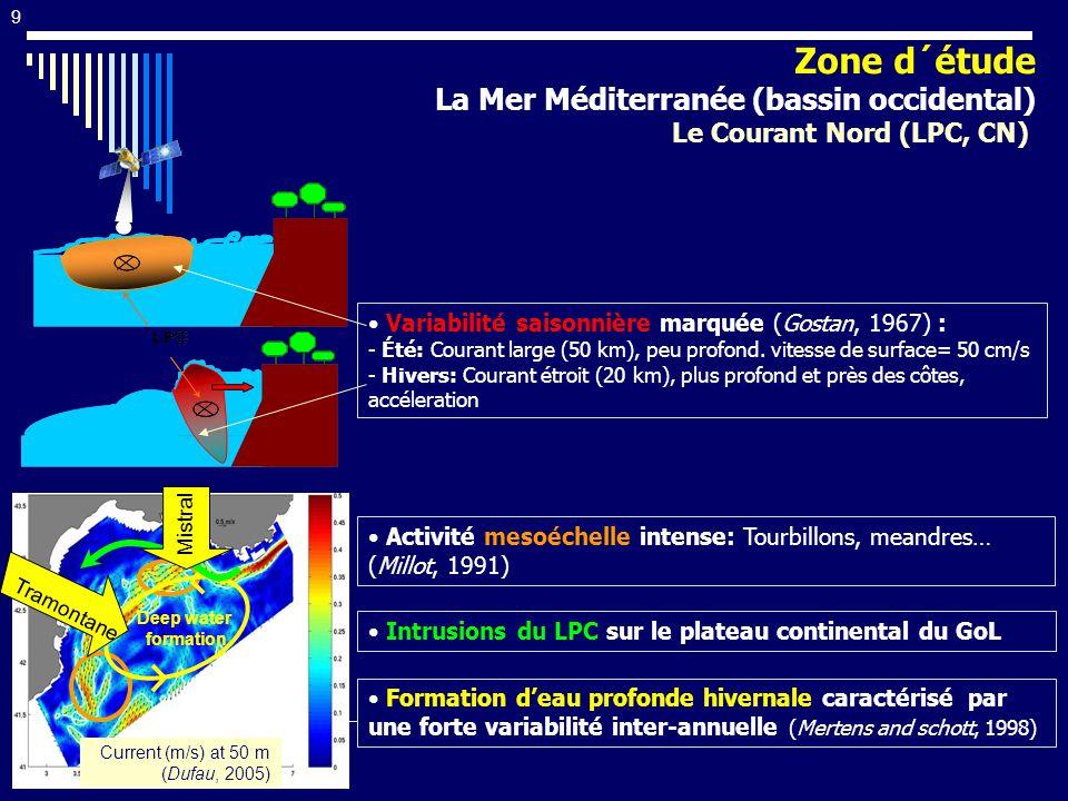 Zone d´étude La Mer Méditerranée (bassin occidental)