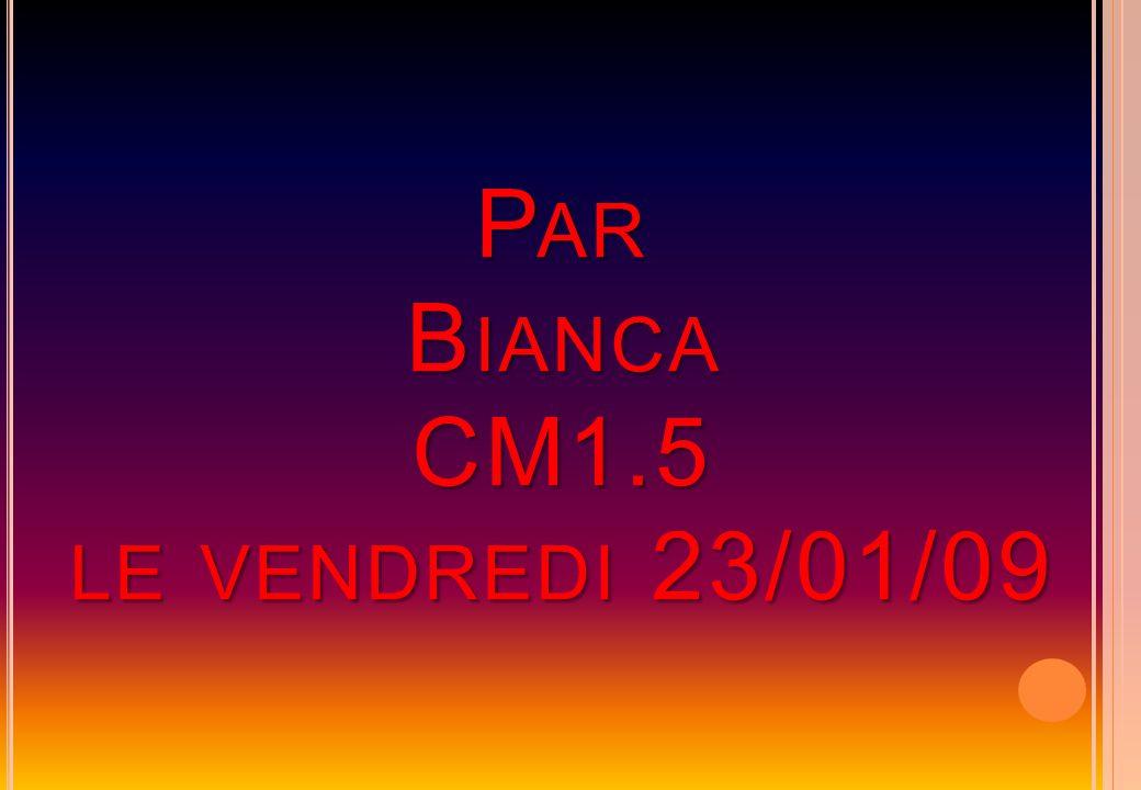 Par Bianca CM1.5 le vendredi 23/01/09