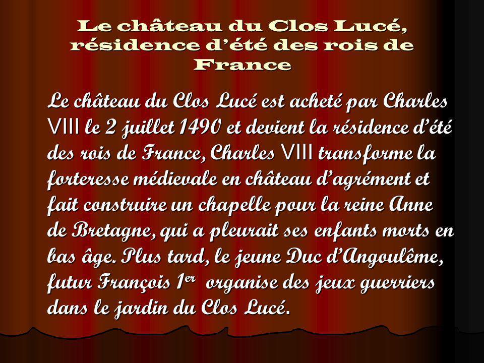 Le château du Clos Lucé, résidence d'été des rois de France