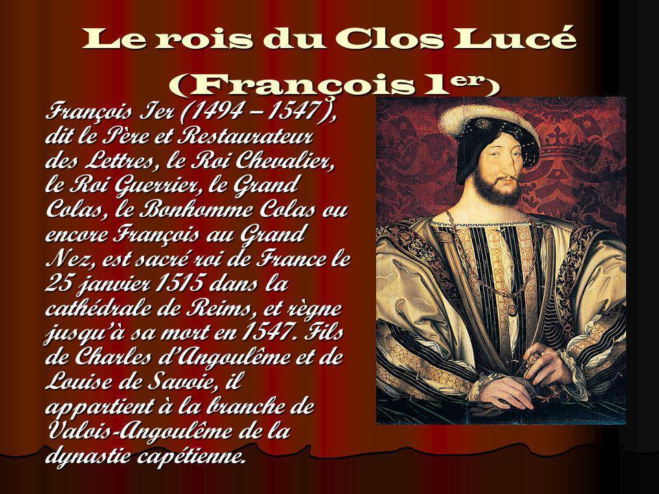 Le rois du Clos Lucé (François 1er)