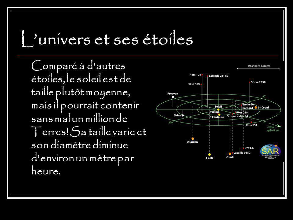 L'univers et ses étoiles