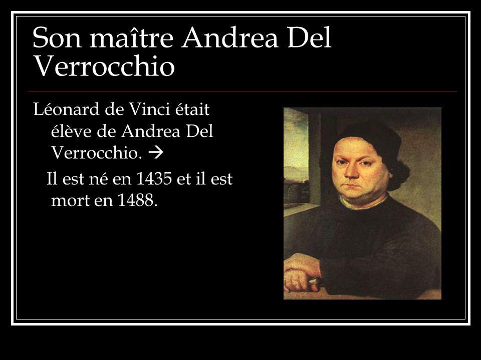Son maître Andrea Del Verrocchio