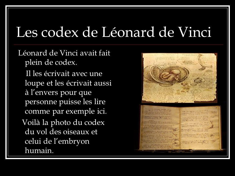 Les codex de Léonard de Vinci