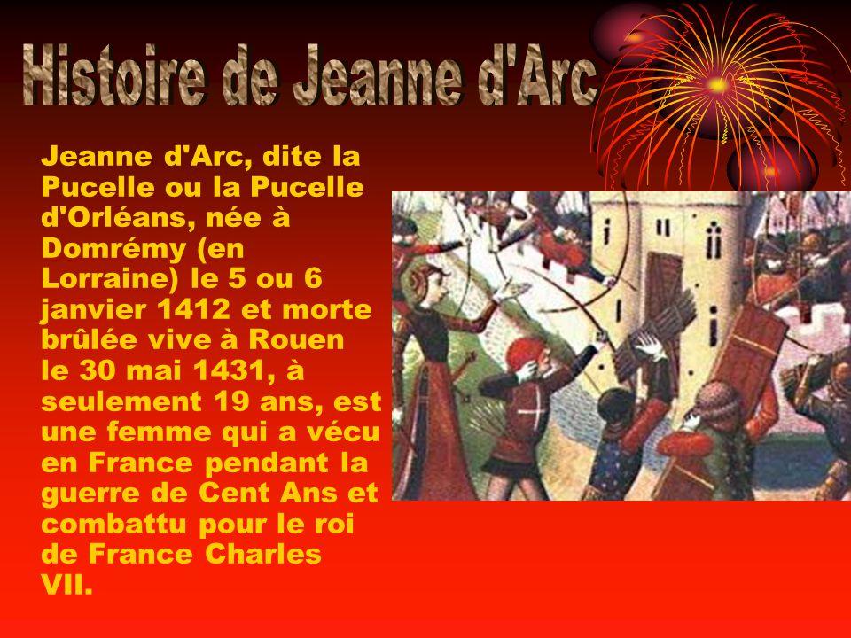 Histoire de Jeanne d Arc