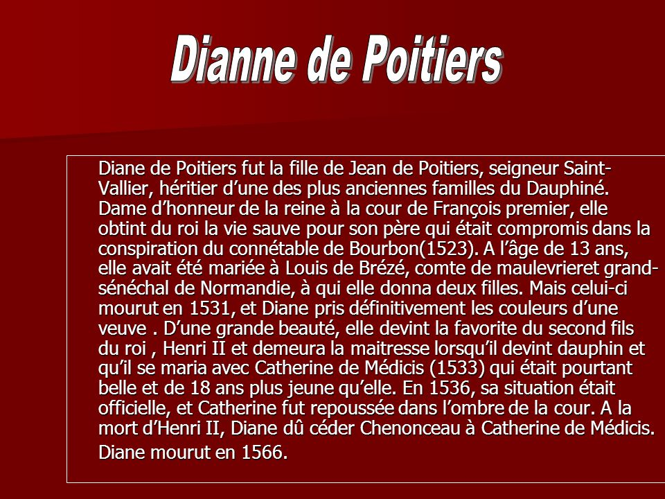 Dianne de Poitiers