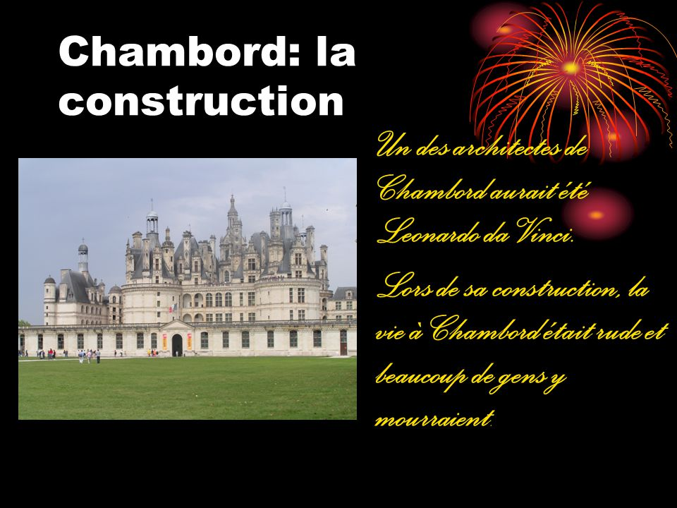 Chambord: la construction