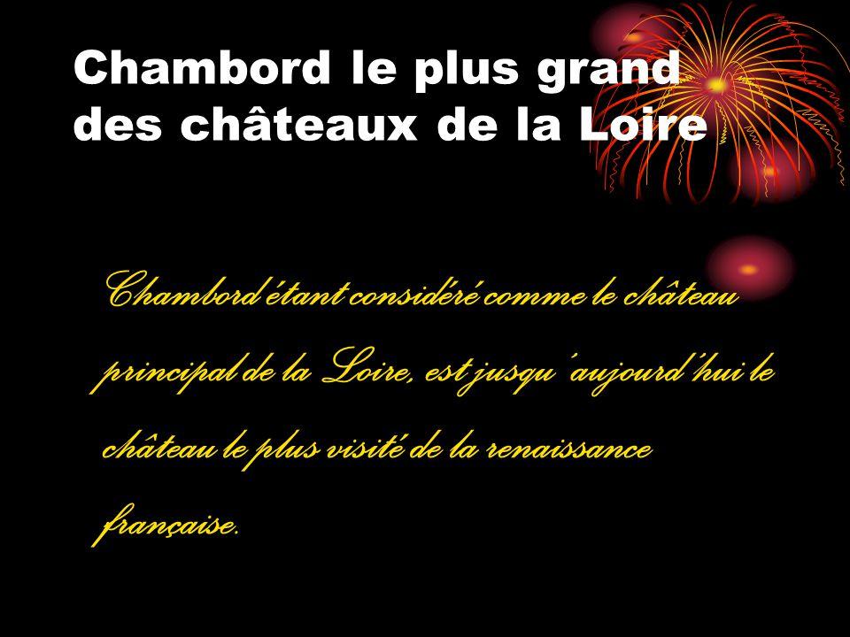 Chambord le plus grand des châteaux de la Loire