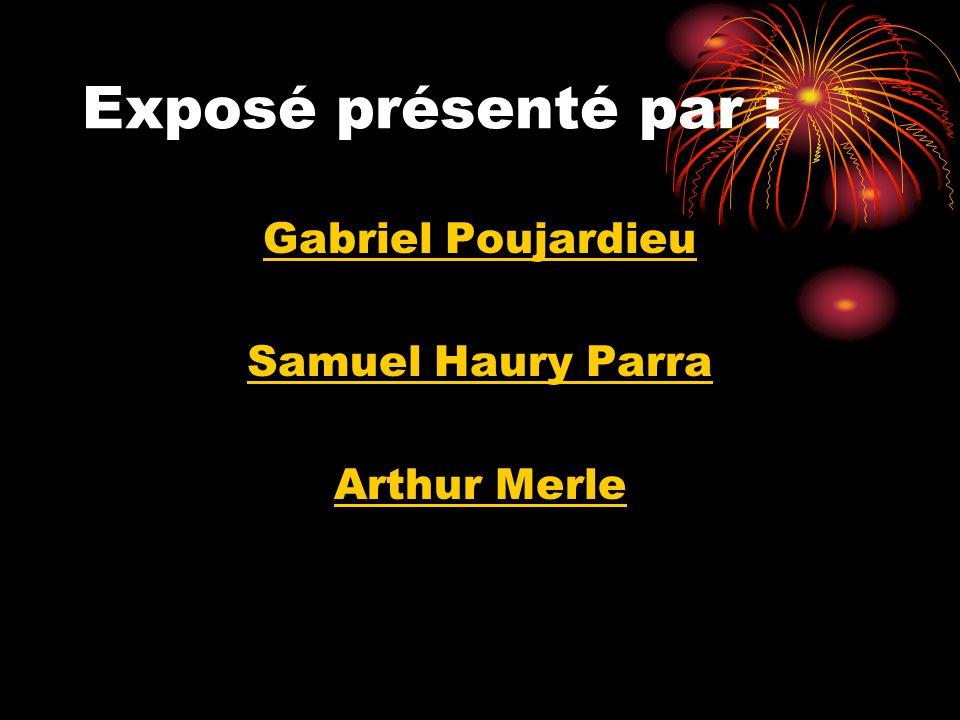Exposé présenté par : Gabriel Poujardieu Samuel Haury Parra