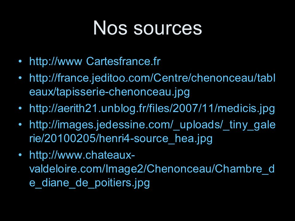 Nos sources http://www Cartesfrance.fr