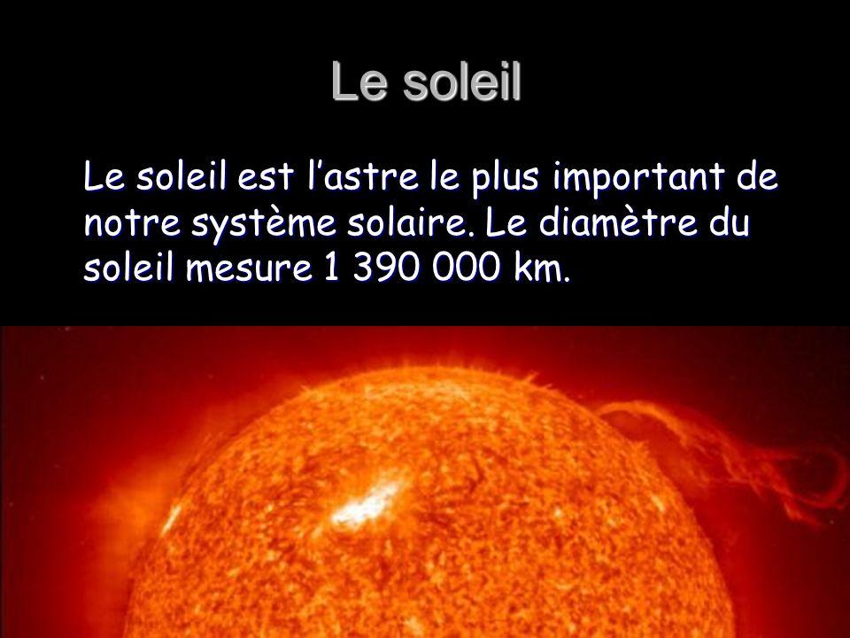 Le soleil Le soleil est l'astre le plus important de notre système solaire.