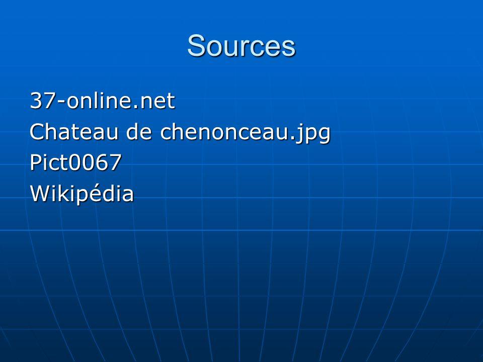 Sources 37-online.net Chateau de chenonceau.jpg Pict0067 Wikipédia