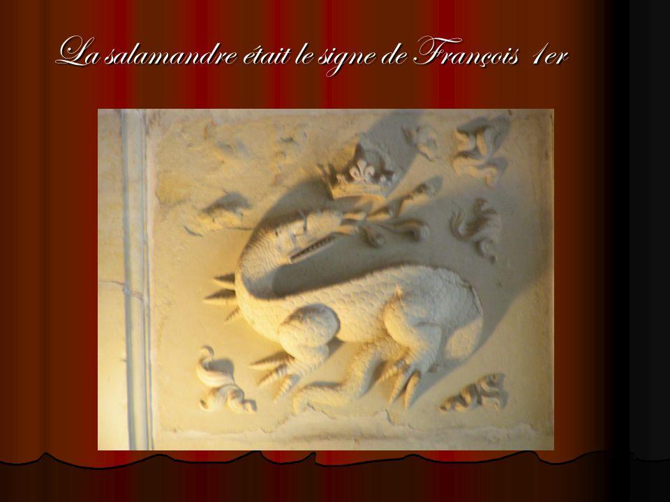 La salamandre était le signe de François 1er