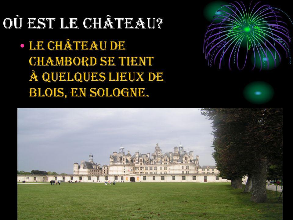 Où EST LE CHÂTEAU Le château de Chambord se tient à quelques lieux de Blois, en Sologne.