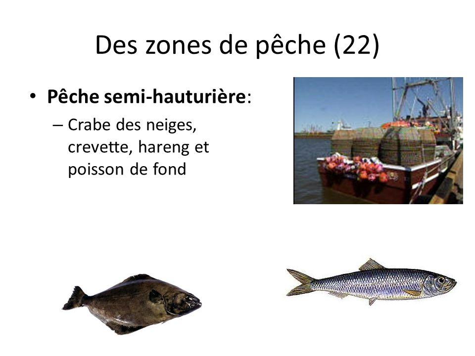 Des zones de pêche (22) Pêche semi-hauturière: