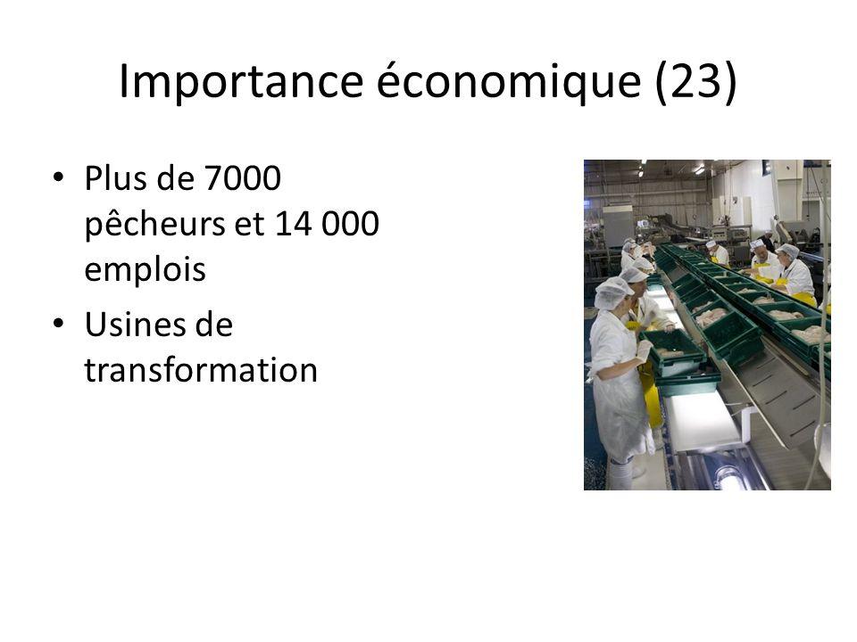 Importance économique (23)