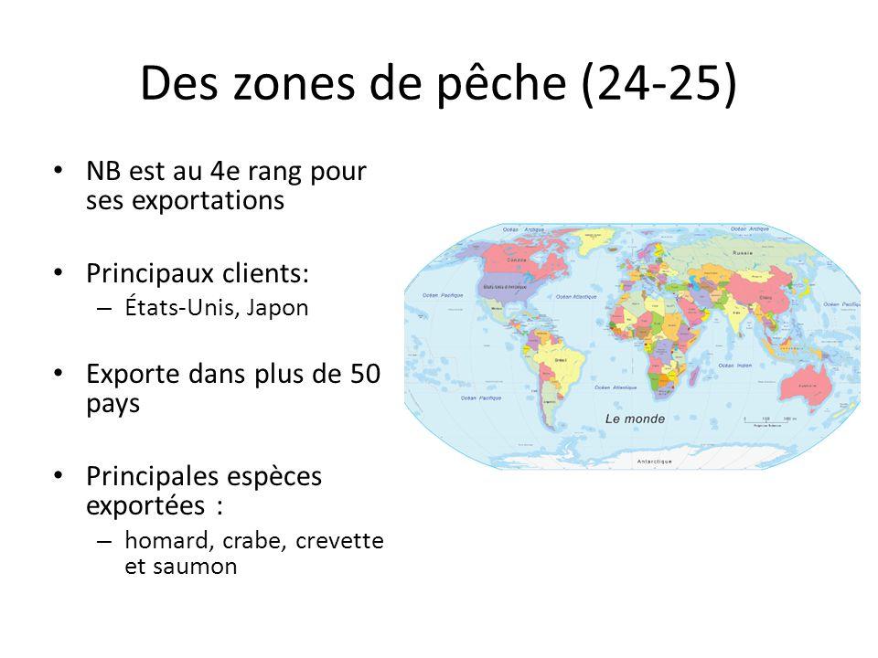 Des zones de pêche (24-25) NB est au 4e rang pour ses exportations