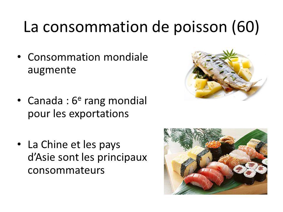 La consommation de poisson (60)